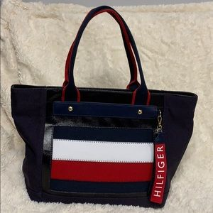 Tommy Hilfiger Blue Tote Handbag Classic Shopper
